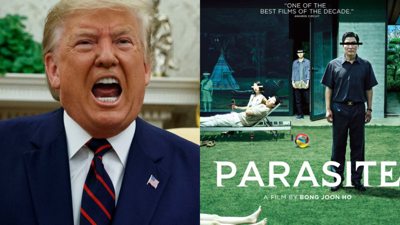 "Donald Trump isn't happy a South Korean film ""Parasite"" won best-picture Oscar award"