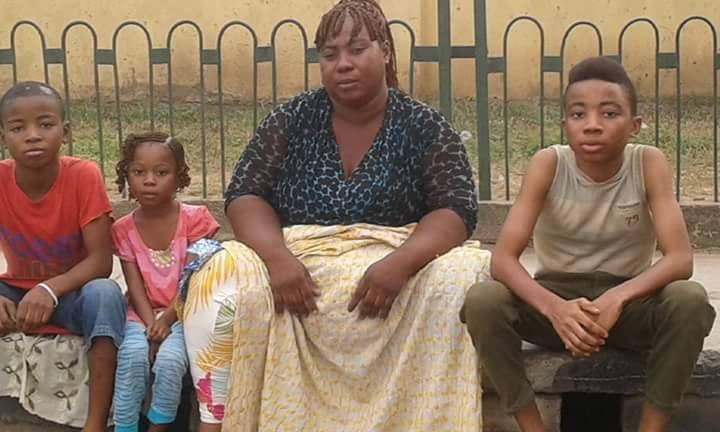 Lagos state govt rescued Esther and his kids who was a beggar