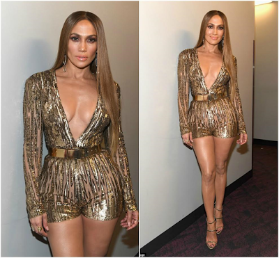 Jennifer Lopez, dresses her enviably figure in three gorgeous outfits at the Latin Grammy Awards. (Photos)