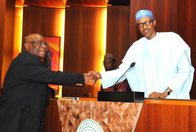 President Buhari Swears in Justice Walter Onnoghen as Ag. Chief Justice of Nigeria | Photos