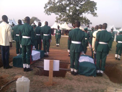 state burial of gallant soldiers killed recently by Boko Haram Photos