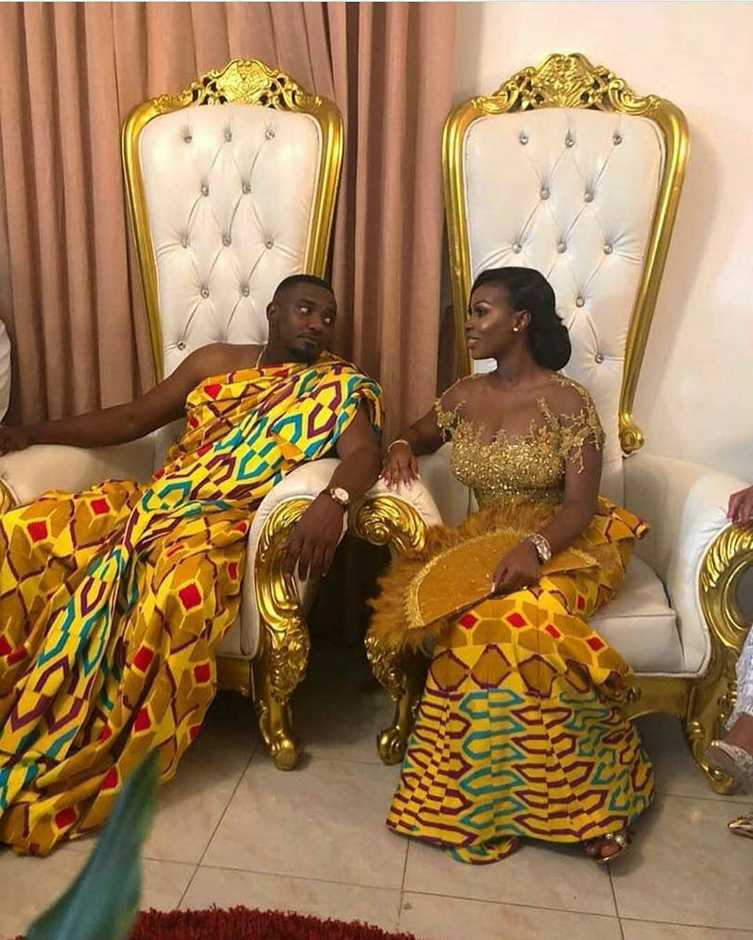 John Dumelo and Mawunya's Traditional Wedding pictures in Ghana