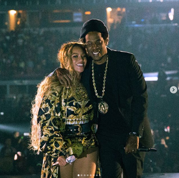 Beyonce stage performance with Jay-Z on last ten shows of on the their Run Tour II
