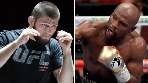 Khabib Nurmagomedov calls out Mayweather after beating after beating Conor McGregor to claim the UFC lightweight title
