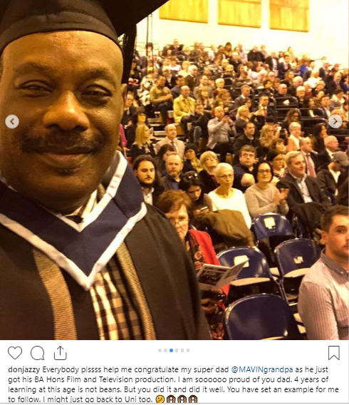 700e79e378 Don Jazzy s father bags Bachelors degree from Dundalk Institute of  Technology
