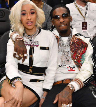 Text messages sent by Offset organizing a threesome without Cardi B leaks that lead to split