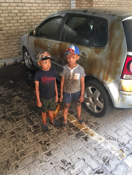 Father disappointed after two of his sons washed his car with engine oil