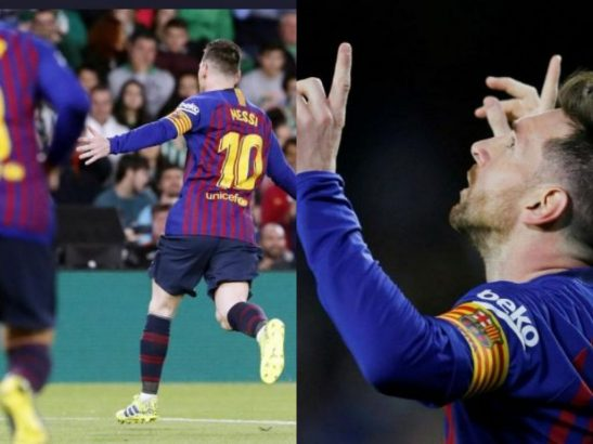 Lionel Messi scores hat-trick in Barcelona's 4-1 win against Real Betis