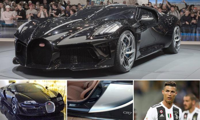 Cristiano Ronaldo 'buys world's most expensive car worth a £9.5m one-off Bugatti La Voiture Noire