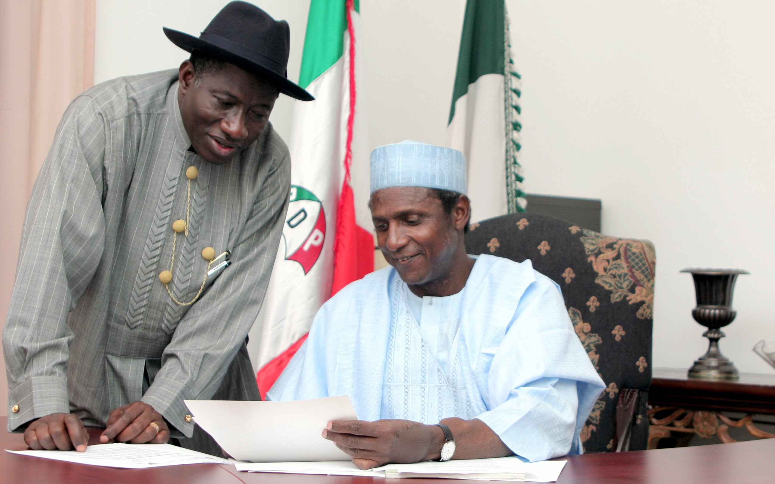 Goodluck Jonathan pays tribute to ex-president Umaru Musa Yar'Adua who died 9-years ago