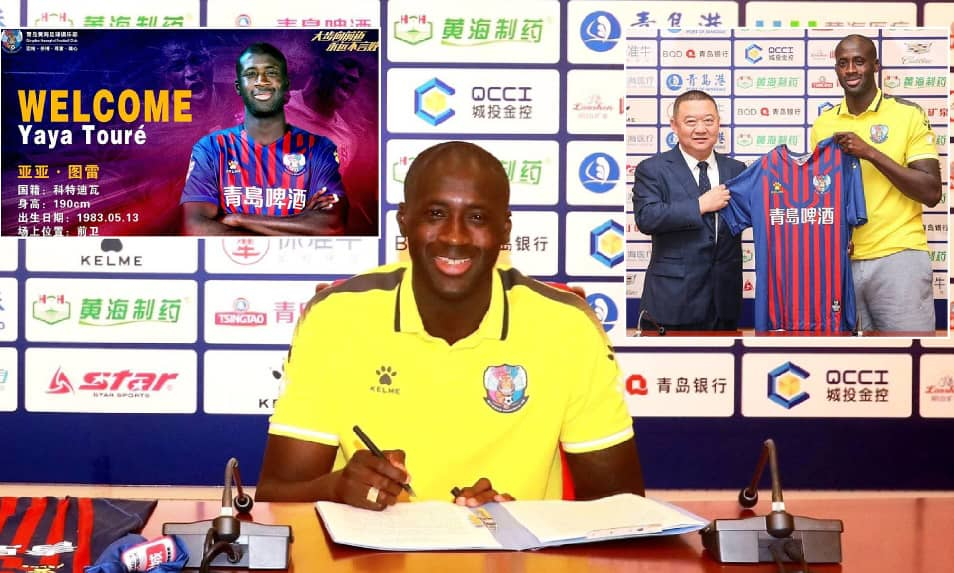 Yaya Toure joins Chinese second tier club Qingdao Huanghai