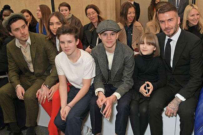 David Beckham and Victoria  and the kids