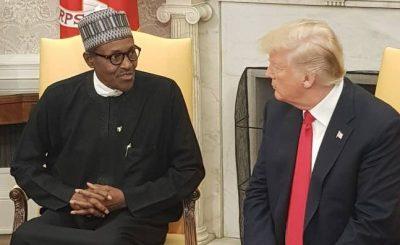 United States president Trump and president Buhari
