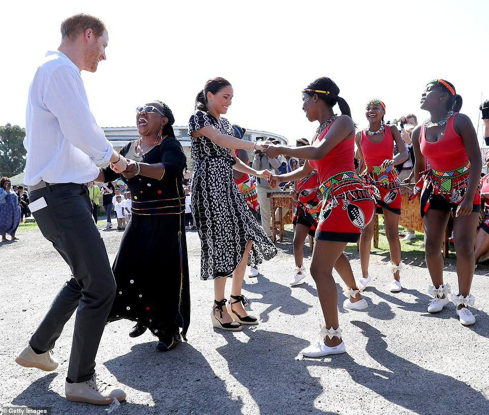 Prince Harry ,Meghan Markle and baby Archie arrive in South Africa's 'murder capital' on their Africa Royal Tour