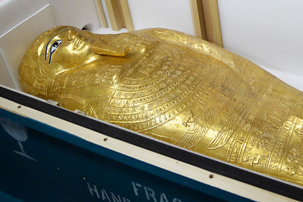 ancient Egyptian coffin