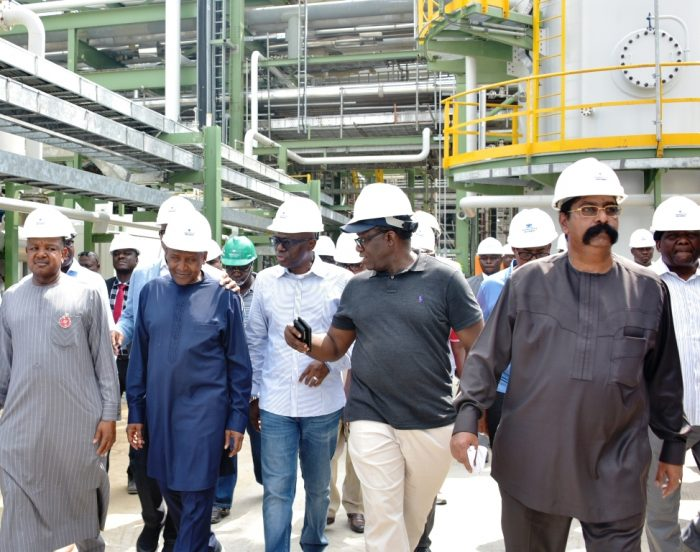 Eleven Nigeria state governors paid visit to Dangote's Refinery in Lagos
