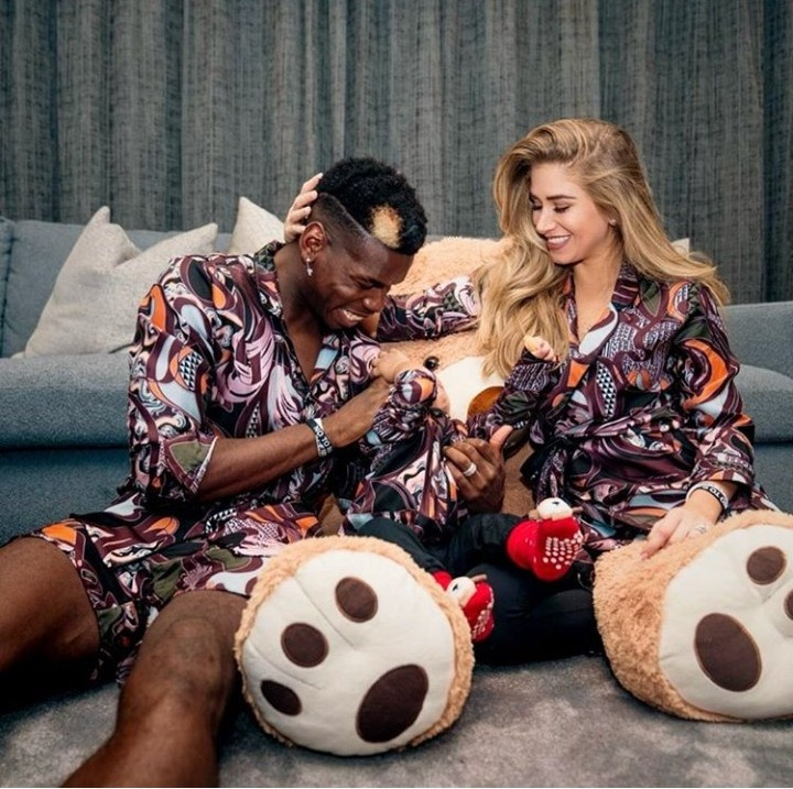 Paul Pogba shares photo with his Caucasian partner and their child as he condemns racism