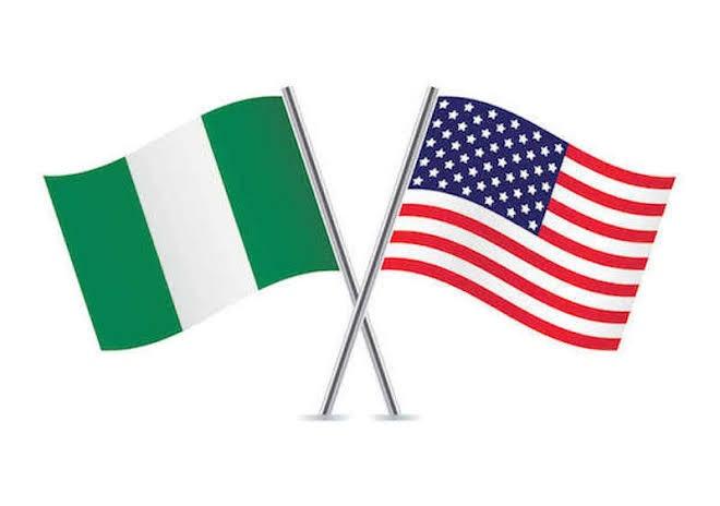 United states and Nigeria flag