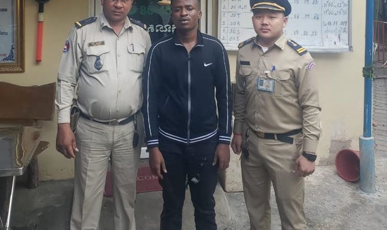 Nigerian man who is Homeless, no job, passport and money arrested in Cambodia