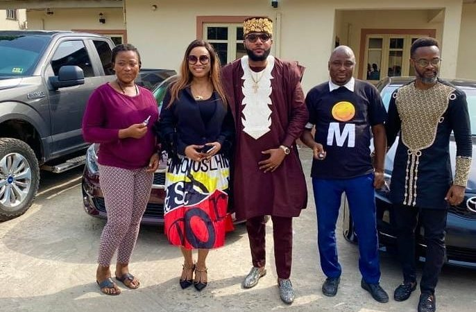 "E Money "" Emeka Okonkwo"" gives out cars to workers on his 39th birthday"