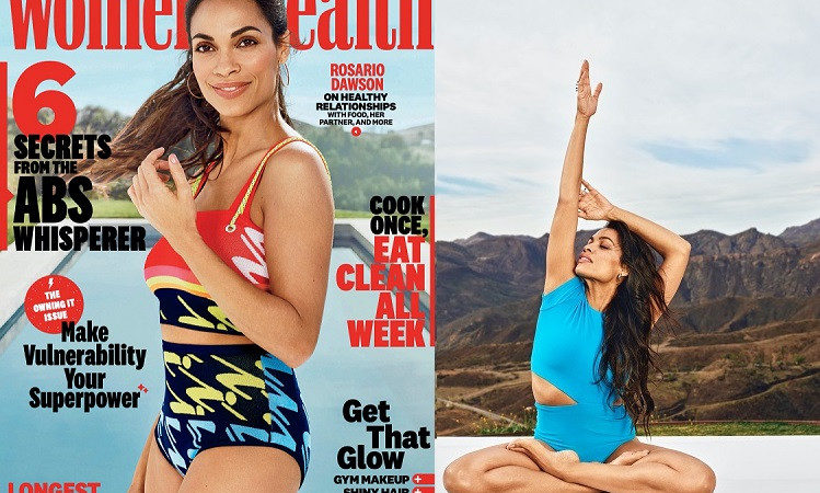 Rosario Dawson covers March issue of Women's Health Magazine