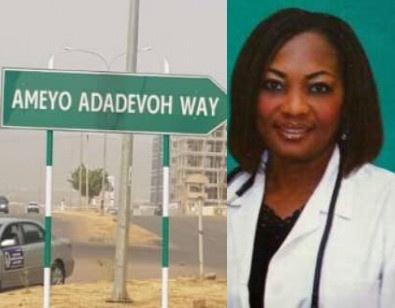 FG names Abuja Major road after brave Ebola doctor Stella Adadevoh
