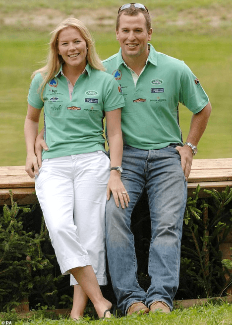 ,Peter Phillips and wife