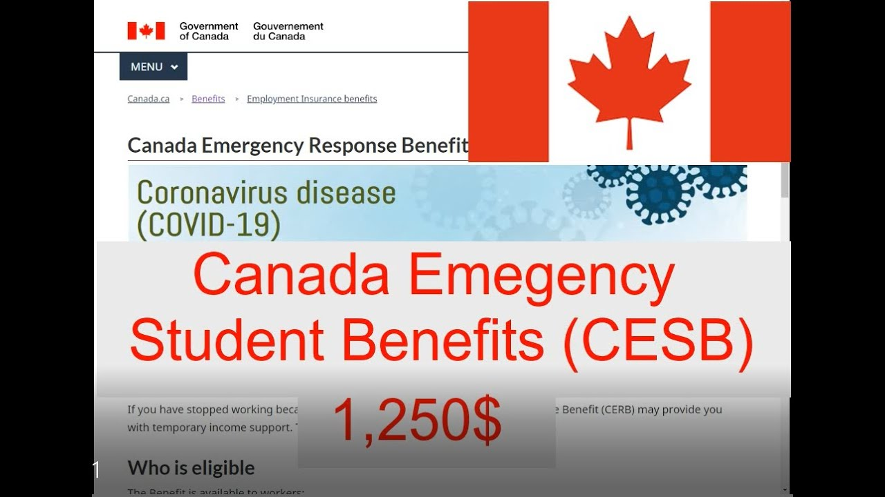 Canada Emergency Student Benefit program: students to get $1,250 to $1,750 per month from May to August