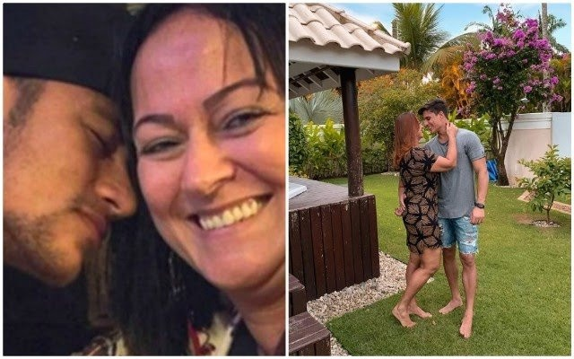 neymar mother and her 22 years old boy friend
