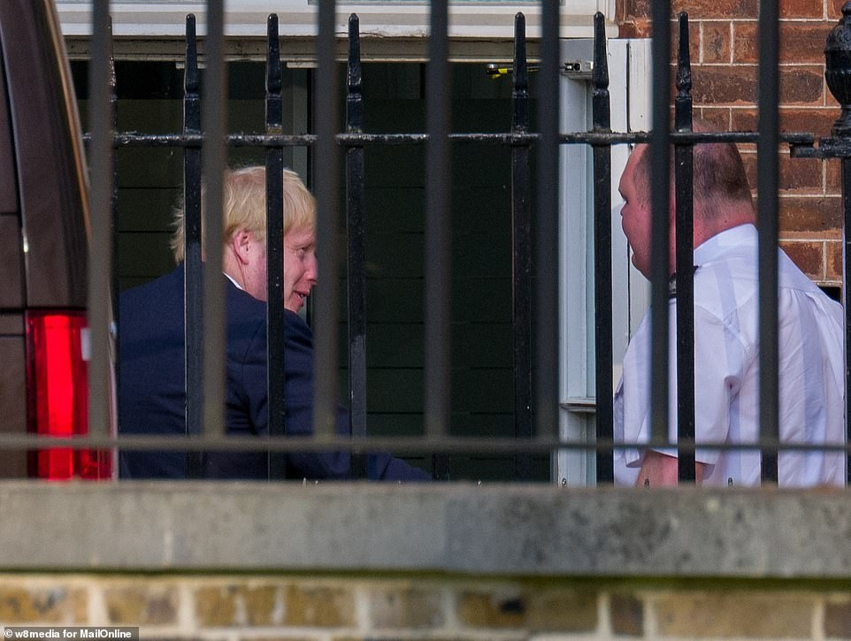 PM Boris Johnson arrives at Downing Street ahead of his return to work