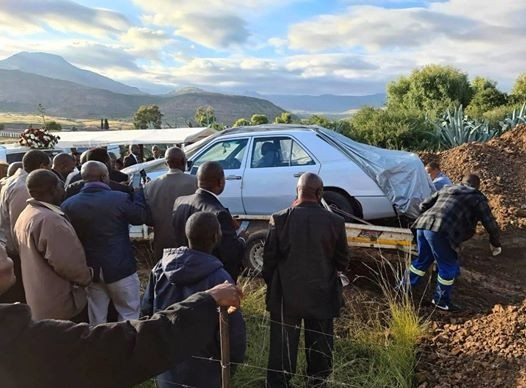 South African man Tshekedi Pitso buried in a Mercedes Benz according to his last wish