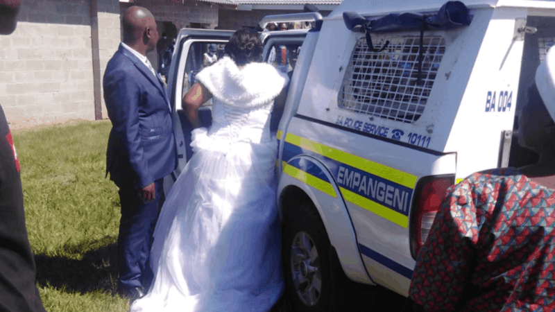 Police Arrests Bride Jabulani Zulu and bride Nomthandazo Mkhize, Priest And Over 40 Guests For Violating Lockdown order in South Africa