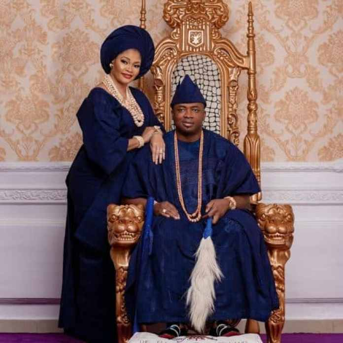 Oba Elegushi: Saheed Ademola Elegushi celebrates his second wife as they mark their 1st wedding anniversary