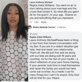 Actress Regina Askia replies lady who shamed her for speaking about her marital issues on instagram