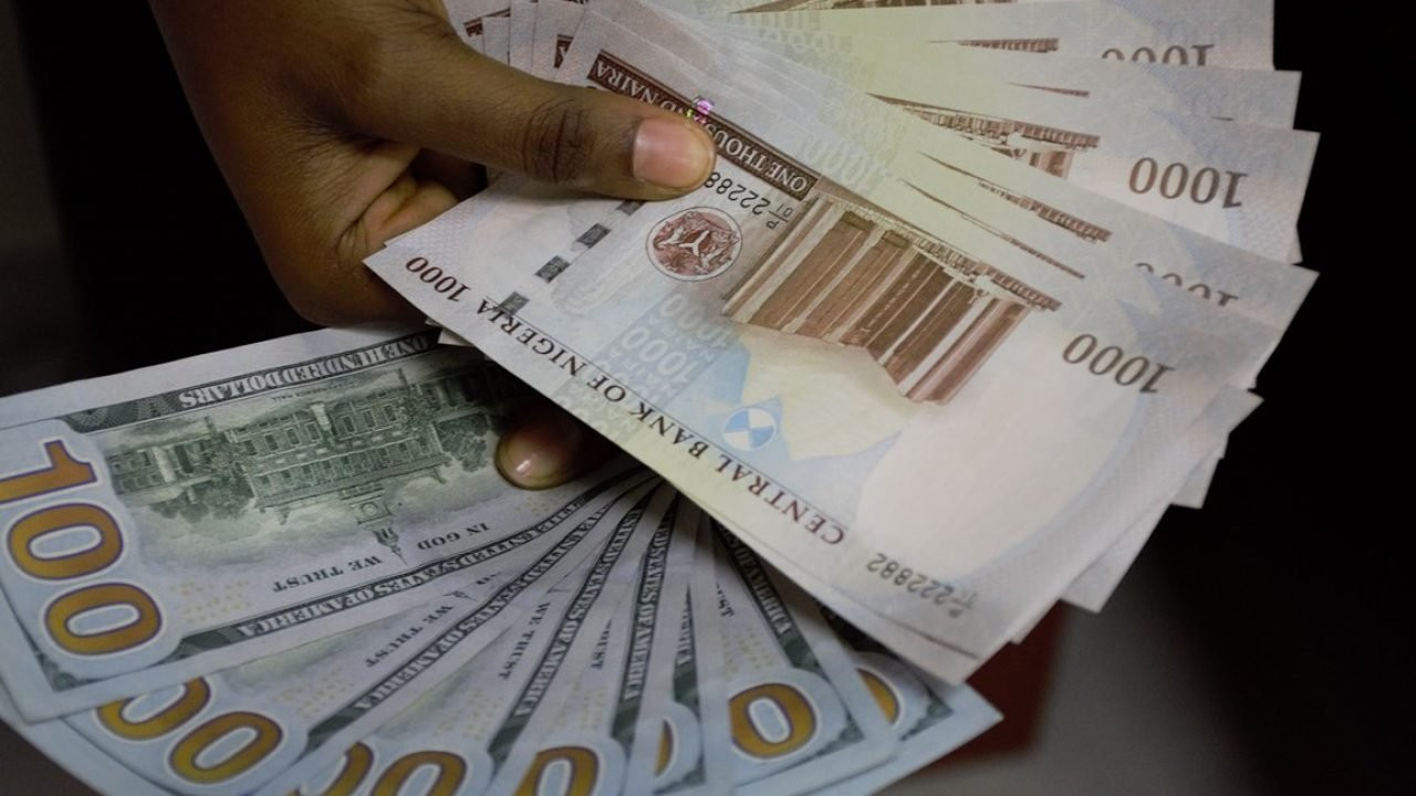 Nigeria naira and united states dollar picture