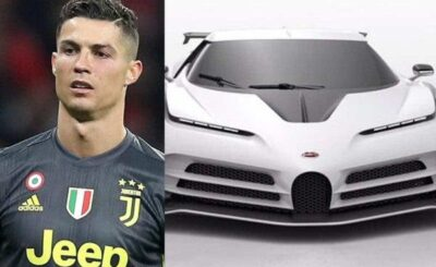 Cristiano Ronaldo has just bought himself a Bugatti Centodieci