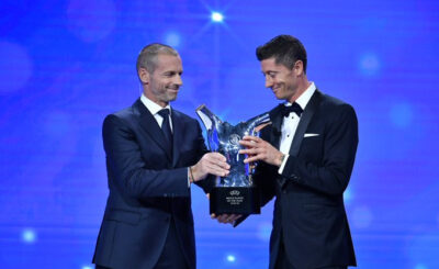 Robert Lewandowski wins UEFA Men's Player of the Year award for 2019/20