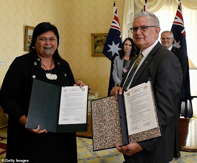 NZ PM, Jacinda Ardern appoints Appoints New Zealand's First Indigenous Female Foreign Minister Nanaia Mahuta with a Maori facial tattoo