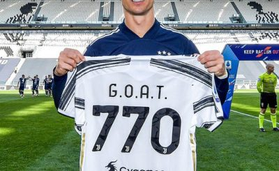 Cristiano Ronaldo presented with special 'G.O.A.T
